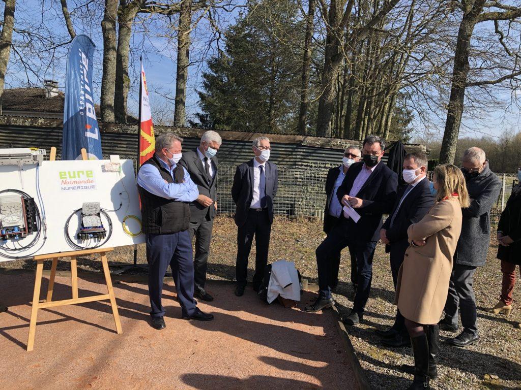 Président d'IBTN à l'inauguartion du NRO d'Eure Normandie Numérique